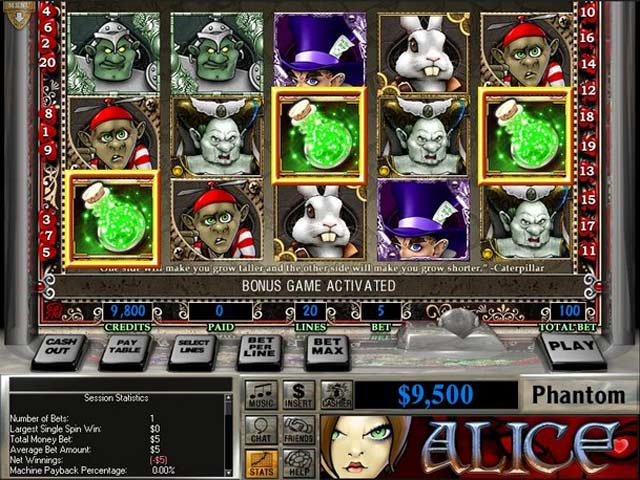 Image Slot Quest: Alice in Wonderland