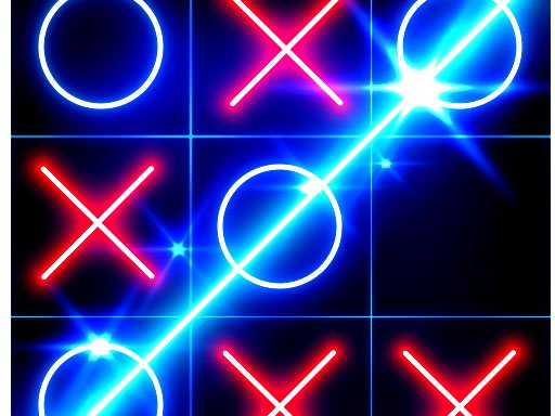 Tic Tac Toe glow – Free Puzzle Game