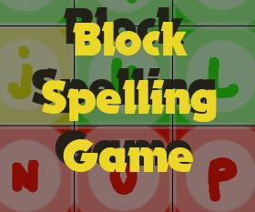 Image Block Spelling game